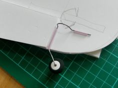 Simple tail steering for foam board planes - build guide.