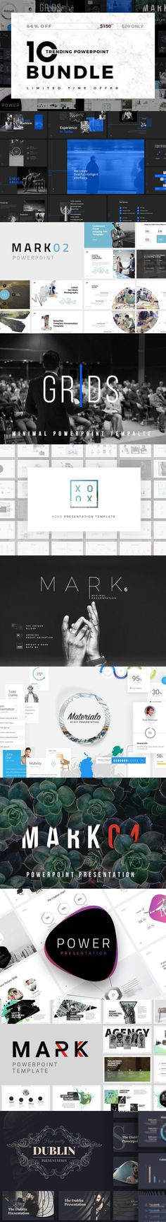 Trending-Minimal Powerpoint Bundle. Graphic Design Infographics. $29.00