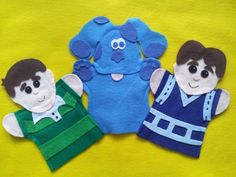 Blues Clues Hand puppets by puppetmaker, Puppets on iCraftGifts.com