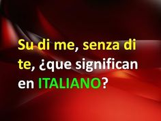 Italian Language, Learning Italian, Youtube, Italy, Videos, Italian Quotes, French Words, Sayings, Languages