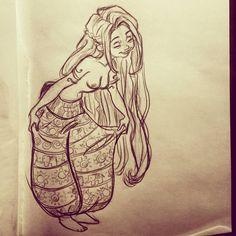 meu deus, esses desenhos eu acho MUITO a ver com ela (tirando a parte que ela tá sem blusa)