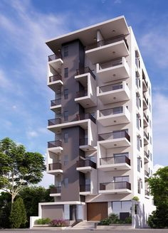 Minimal Modern Small House Design, Modern Exterior House Designs, Modern Apartment Design, Exterior Design, Building Elevation, Building Exterior, Building Facade, Building Design, Facade Architecture