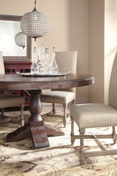 Coast to Coast Round Table Dining Room Set | Coast to Coast Imports | Home Gallery Stores