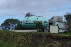 UFO House (New Zealand)    #travelways #guiddoo  #trave #aroundtheworld  #wanderlust #nomad #smiles #happiness #expressions #LetsExplore #scuba #diving #adventure #underwater #seabed #sea #life www.guiddoo.com