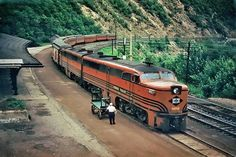 "Alex Haggerty / Classic Streamliners  Lehigh Valley's ""Black Diamond"" awaiting departure from Jim Thorpe, Pennsylvania."
