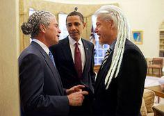 World leaders with the dreaded man bun.