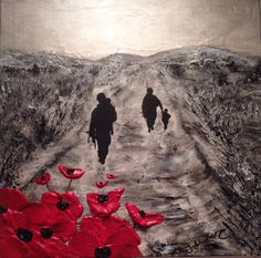 In The Hands Of Hope By Jacqueline Hurley  War Poppy Collection No.14 Port Out, Starboard Home Original Art POSH Original Art