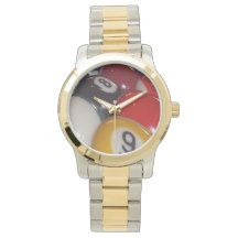 Eight_ball_Unisex_Large_Two_Toned_Bracelet_Watch. Wristwatches