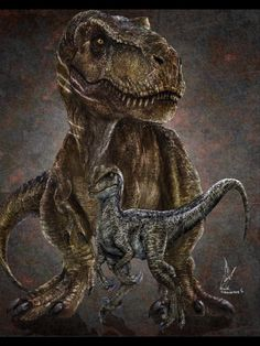This is an edited version of my former Rexy and Blue poster. It has had a photographic treatment to make it look more like the dinosaurs displayed in the movie. With the collaboration of Manuel Unda now we can present this great image and you can purchase it as a print. Is an excellent