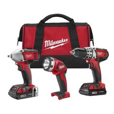 2691-23 M18 Combo Compact Drill / Impact Wrench / Light / Charger /2 Compact Batteries