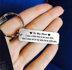 All of My Lasts Be With You Keychain #CreativegiftsForHim Bf Gifts, Thank You Gifts, Love Gifts, Cute Couple Gifts, Romantic Gifts For Him, Thoughtful Gifts For Him, Romantic Surprise, Gift For Boyfriend, Diy Birthday Ideas For Boyfriend