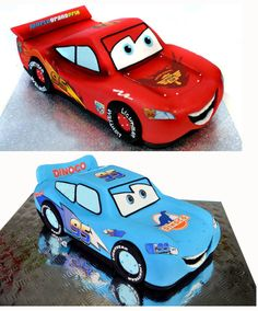 3D Racing Car Lightning McQueen Cake - CakesDecor All the decals for them plus links to YouTube tutorials