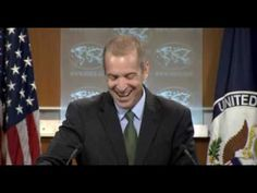 Sad: Deputy State Department spokesman Mark Toner. State Dept. Spokesman bursts out laughing at the idea that his briefings involve 'transparency'