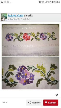 Bead Organization, Cross Stitch Embroidery, Needlework, Diy Crafts, Beads, Costume, Cross Stitch Borders, Cross Stitch Flowers, Bathroom Towels