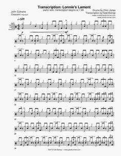 drum solo transcriptions - Google keresés