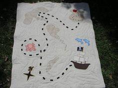 treasure map quilt.