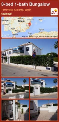 Bungalow for Sale in Torrevieja, Alicante, Spain with 3 bedrooms, 1 bathroom - A Spanish Life Valencia, Small Utility Room, Portugal, Closed Kitchen, Torrevieja, Bungalows For Sale, Alicante Spain, Private Garden, Storage Room