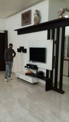 Lcd Unit Design, Lcd Panel Design, Wall Unit Designs, Tv Cabinet Design, Tv Wall Design, Bed Design, Bedroom Cupboard Designs, Living Room Designs, White Tv Unit