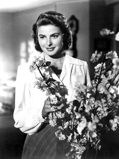 Casablanca, Ingrid Bergman. almost forgot she was Isabella Rossillini's mom until I saw her face.