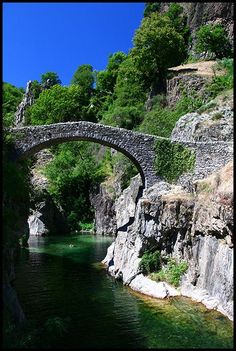 la pont du diable (the devil's bridge), Ardeche, France