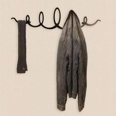 The Squiggle Metal Coat Rack - Black by The Metal House