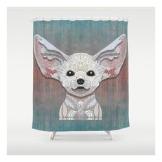 Fennec Fox Shower Curtain ($68) ❤ liked on Polyvore featuring home, bed & bath, bath and shower curtains