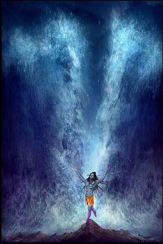 Lord Shiva ganga avataran in creative art painting Rudra Shiva, Mahakal Shiva, Shiva Statue, Krishna, Aghori Shiva, Shiva Linga, Photos Of Lord Shiva, Lord Shiva Hd Images, Shiva Angry