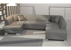 Rozkládací rohová sedačka HABANA šedá ekokůže Sofa, Couch, Furniture, Home Decor, Settee, Settee, Decoration Home, Room Decor, Home Furnishings