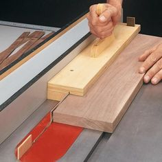Simple Jig for Thin Strips | Woodsmith Tips … #woodworkingplans