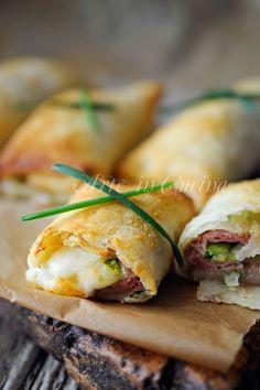 Pastry rolls with zucchini and ham | Involtini di sfoglia con zucchine e prosciutto | Arte in Cucina