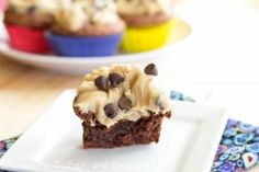 brownie bites with cookie dough icing