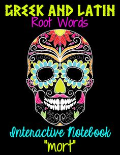Greek and Latin Roots: Interactive Notebook (Freebie)! Perfect for Halloween or Day of the Dead.