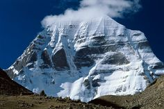 Mount Kailash, western Tibet, seen from the circuit around it. The Mount Kailas is Asia's most sacred mountain, the axis mundi representing the mythical Mount Meru, throne of the gods (and in particular Shiva) Kailash Mansarovar, Mount Meru, Sacred Mountain, Heaven On Earth, Ancient History, In This World, Scenery, Places To Visit, 18th Century