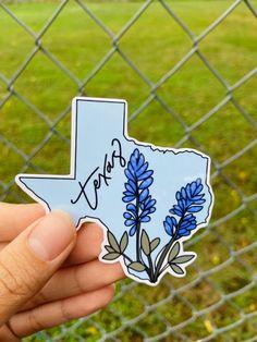 Cute Laptop Stickers, Cool Stickers, Custom Stickers, Texas Stickers, Sticker Designs, Sticker Ideas, Ipad Art, Blue Bonnets, Aesthetic Stickers