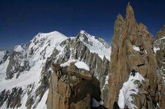 Pointe Carmen. Mont Blanc al fondo. Alpes francés