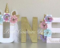 Unicorn First Birthday/ Unicorn Letters/ Unicorn Floral Letters/ Unicorn Decorations/ Unicorn Photo Prop/ Unicorn Bridal Shower