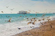 Brighton beach by M Comanescu Photography on @creativemarket