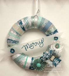 Stampin' Up! Stamping T! - Winter Frost Wreath
