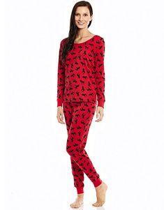Pajamas Small School = see details Travel Gilligan /& OMalley Purple and Red Silky PJ/'s Fun Christmas Pajamas