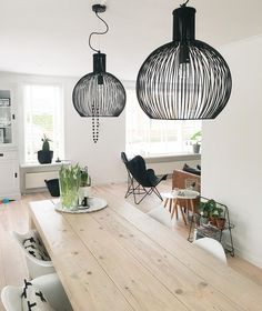 Nieuwe lampen🙌 Soms wil je gewoon weer wat anders... #lampen#verlichting#zwart#zwartwonen#homeinspirations #homedecor…
