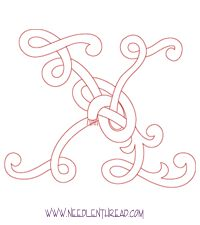 Monogram for Hand Embroidery: Celtic X – Needle'nThread.com