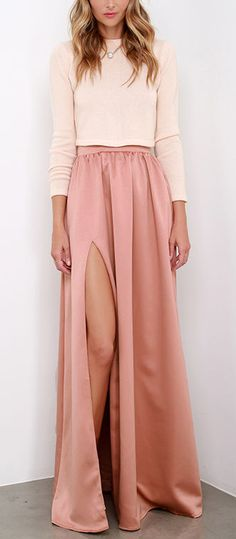Fall fashion: length+nudes/blush