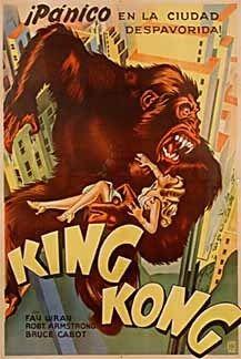 King Kong Original 1933 Ultra RARE Argentine Poster Art Deco Litho Cooper Wray   eBay