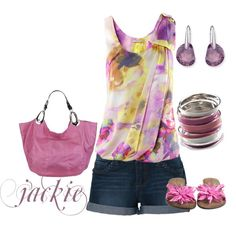Summer pink and purple, created by jackie22 on Polyvore