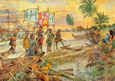 1492- Columbus ontdekt Amerika-