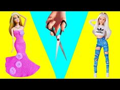 10 IDEIAS FÁCEIS DE FAZER PARA BONECA BARBIE | DIY MINIATURA DE COISAS | IDER ALVES - YouTube Sewing Barbie Clothes, Barbie Dolls Diy, Baby Doll Clothes, Doll Clothes Patterns, Diy Doll, Clothing Patterns, Baby Dolls, Accessoires Barbie, Beautiful Barbie Dolls