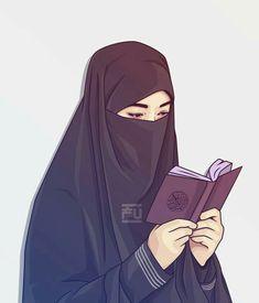 Womens Wallpaper Anime Ideas For 2019 Hijabi Girl, Girl Hijab, Muslim Girls, Muslim Couples, Girl Cartoon, Cartoon Art, Hijab Drawing, Islamic Cartoon, Hijab Niqab