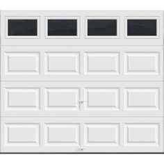 x 7 ft. R-Value Intellicore Insulated Solid Almond Garage - The Home Depot - Clopay Premium Series 8 ft. x 7 ft. R-Value Intellicore Insulated Solid Almond Garage Door-HDP - Home Depot Garage Doors, White Garage Doors, Garage Door Colors, Garage Door Sizes, Custom Garage Doors, Garage Door Windows, Best Garage Doors, Overhead Garage Door, Arched Windows