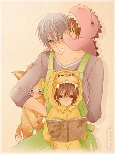 ❇ [Zero, Yuuki/Yuki (Dinosaur Costume), Aido (Fox/Wolf Costume), and Kaname (Lion Costume) as Kids]