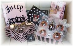 Hand painted Juciy Couture ornaments and gift boxes by Angela ♕ Anderson